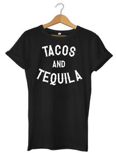 Tacos & Tequila Funny Mens Womens Unisex T-Shirt