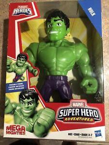 """Marvel Super Hero Adventures Mega Mighties Hulk Collectible 10"""" Figure Playskool"""