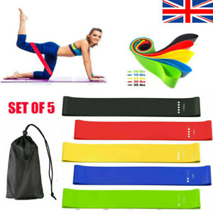 Resistance Bands Exercise Sports Loop Fitness Home Gym Workout Yoga Glutes Latex
