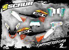 Scrub KTM DECALCOMANIE GRAFICHE KIT ADESIVI EXC 125 250 300 450 530 2008-2011' 08 -'11