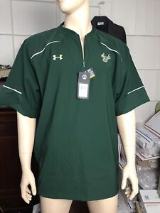 NWT Under Armour University South Florida (USF) Bulls 1/4 Zip Men's Shirt Sz 3XL