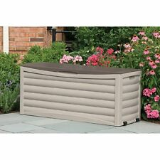 Suncast Extra Large 103-Gallon Patio Deck Box - Db10300, Light Taupe/Mocha,
