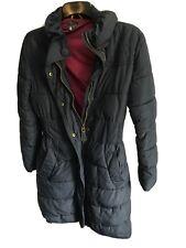 Ladies R.Landridge Joules Navy Blue Long Puffa Style Jacket Size 12 W306