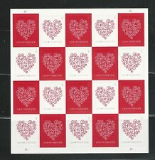 #4955-4956 Love Forever Hearts Pane of 20 Valentine Wedding Invitation Authentic