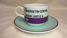 Royal Themed Train Ticket Design Cup &Saucer Windsor&Eton Central Windsor Castle
