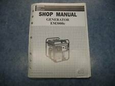 HONDA EM3000C 2000 1999 GENERATOR SHOP SERVICE REPAIR MAINTAINANCE MANUAL