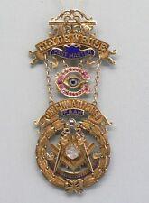 Incredible Gold Past Master Cincinnati Lodge Masonic 14K Pin from Clyde W. Rose