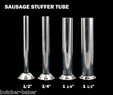 "Four Replacement Stuffing Tubes for Manual Sausage Stuffers w/ 2 1/16"" base"