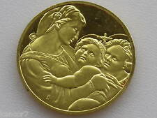 Madonna della Tenda Gold On Sterling Silver Medal Franklin Mint D2860