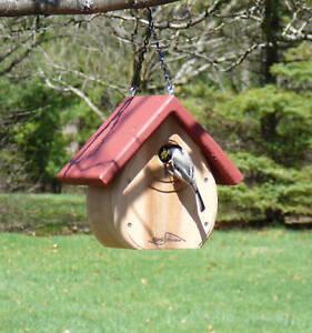 Kettle Moraine Tear Drop Nestbox Wren & Chickadee Bird House red roof #9100RED