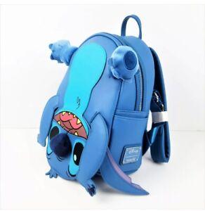 Loungefly Disney Upside Down Blue Cosplay Figural Mini Backpack