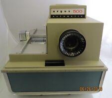 Vintage Argus 500 Automatic Model Slide Projector w/ Case