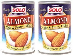 Solo Almond Cake & Pastry Filling 12.5 oz 2 Can Pack