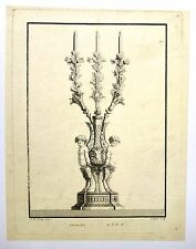 Eau forte, Chandelier de décoration,  A. Colinet d'après J.Fr Forty, 18ème