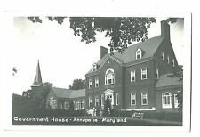 Old Real Picture Postcard Government House Annapolis MD Kodak Paper Stamp Block