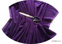 PURPLE Cotton Velvet Fabric for Dressmaking - Metre, ½m & FQ