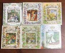Lot 6 BRAMBLY HEDGE Hardcover Books Jill Barklem Sea Story Poppy's Babies