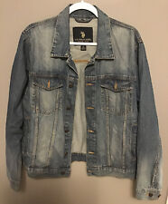 Men's Blue Jean Denim Jacket U.S. Polo Assn. Size XL