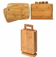 New Kitchen Bamboo Cutting Chopping Slicing Board Set 3/4/6piece Fruit Vegetable