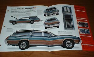 ★★1972 OLDSMOBILE VISTA CRUISER WAGON ORIGINAL IMP BROCHURE 72 OLDS STATION★