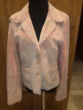 Women's KAREN KANE Pink Suede Blazer/Jacket SZ M