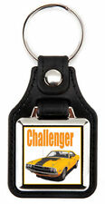 Dodge 1970 Challenger RT Richard Browne Artwork Keychain Key Fob -