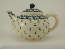 Bunzlauer Keramik Teekanne, Kanne für 1,3Liter Tee, Gänse (C017-P322)