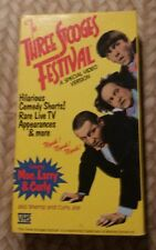 The Three Stooges Festival VHS Video Tape, MOE HOWARD, CURLY HOWARD, LARRY FINE