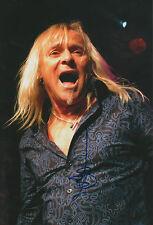 "Bernie Shaw ""Uriah Heep"" signed 8x12 inch photo autograph"
