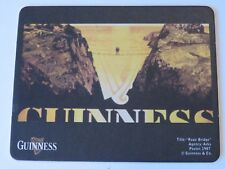 Beer Coaster: GUINNESS & Co Stout ~ Rope Bridge Over Canyon With Harp Design