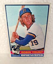 5b55e26035f 1976 Topps Robin Yount Milwaukee Brewers #316 Baseball Card
