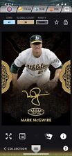 Topps Bunt DIGITAL 2019 Mark McGwire ICONIC  1/35 Gold Signature TierOne DIGITAL