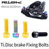 RISK 4Pk M6x18/20mm Bike Disc Brake  Fixed Bolts Screws TC4 Titanium Brake Bolts