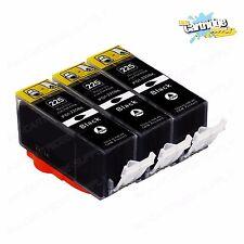 3PK PGI225 Black Ink for MG5120 MG5220 MG5320 MG6120 MG6220 MG8120 MG8120B