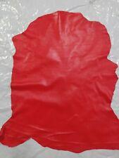 vera pelle di Capra colore rosso pellami/pellame 0.6mm