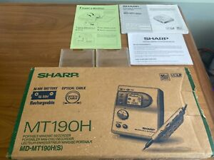 Genuine SHARP MT190H  MINIDISC RECORDER in Original Box Used VGC
