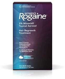 Rogaine Women Foam Hair Loss & Regrowth 5% Minoxidil - 2,4,6,8 Months Supply