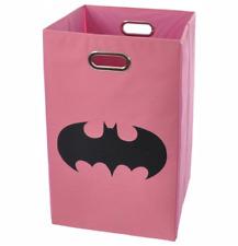 Batman Shield Pink Folding Laundry Basket/Bin