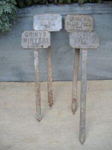 Vintage Old Metal Arboretum Tree Labels (47)
