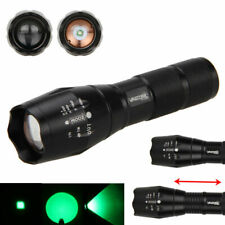 5000Lumen Green/RED Q5 AAA/18650 Zoomable LED Focus Flashlight Torch Lamp