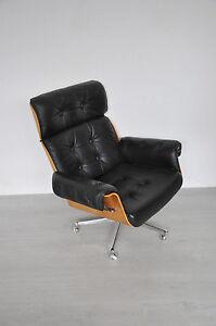 Martin Stoll Giroflex Rosewood Lounge Chair Sessel Bürostuhl Chefsessel