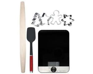 KitchenAid KX403BX Backset Küchenwaage Teigroller Plätzchen Formen | UVP: 99€