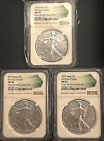 (3) 2019 SILVER EAGLES MS70 FIRST DAY OF ISSUE, ***Beautiful Set Of Coins***