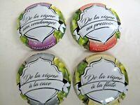 Série de 4 NOUV. capsules Champagne  Générique saveurs et traditions