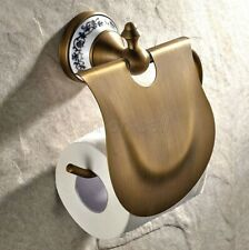 Antique Brass Wall Mounted Bathroom Tissue Toilet Paper Holder aba405