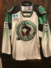 Tom Gilbert WBS PENGUINS AHL Game Worn ROOKIE Germany St Patty Day Hockey Jersey