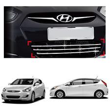 Chrome Radiator Grill Center Garnish for Hyundai Accent 2012-2017