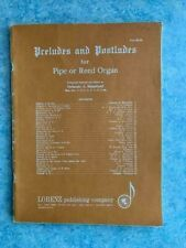 Preludes and Postludes for Pipe or Reed organ