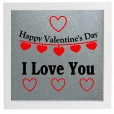 Pegatina de vinilo Hazlo tú mismo Caja Marco-Feliz Día de San Valentín-Yo Te Amo citar Rojo Negro