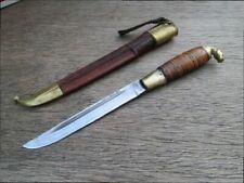 FINE Vintage Lisakki Jarvenpaa Finland Carbon Steel Figural Horse Hunting Knife
